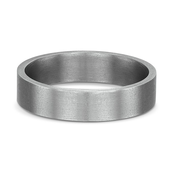JUST FLAT MEDIUM TITANIUM RING