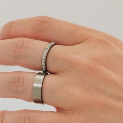 Just Flat Medium Titanium Ring