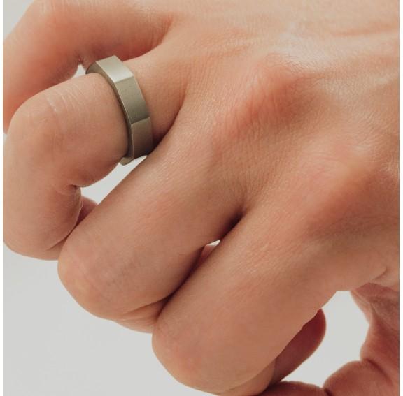 Octagon Titanium Ring