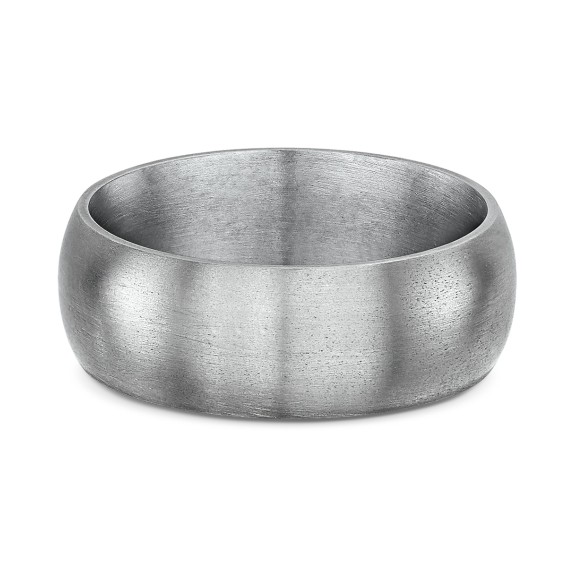 JUST HIGH DOME WIDE TITANIUM RING