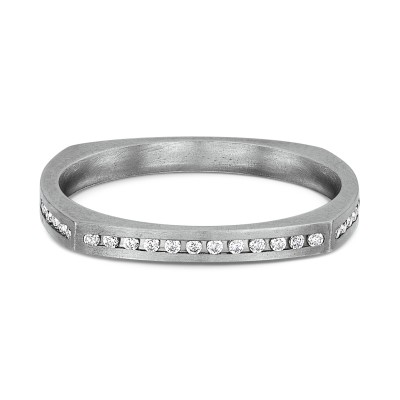 Neuro Square Flat Diamond Ring