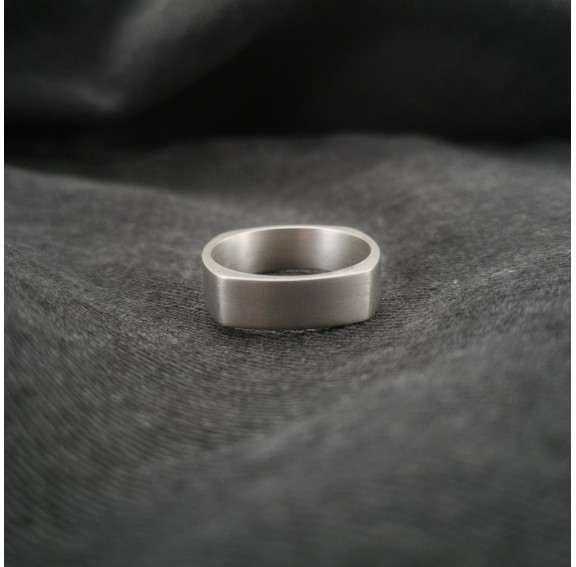 Neuro Flat Wide Titanium Ring