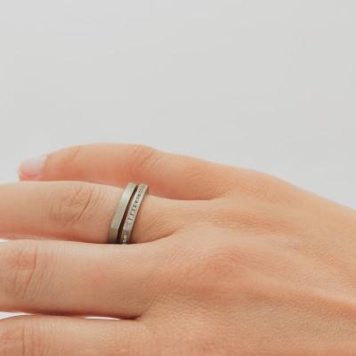 Neuro Flat Very Fine Titanium Ring