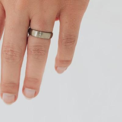 Rigel Line Titanium Ring