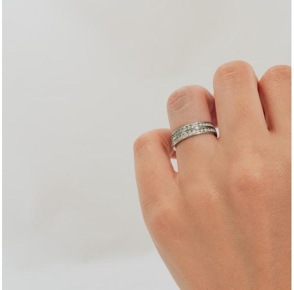 Rigel 37 White Titanium Ring