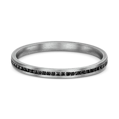 Rigel Thin Black Titanium Ring