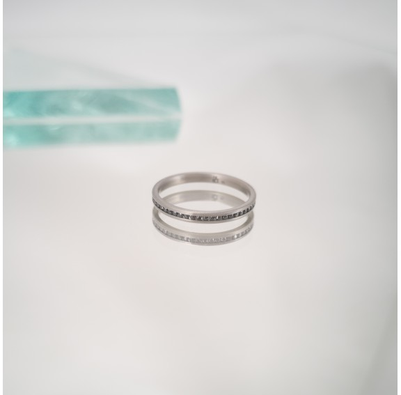 Rigel Thin Black Titanium Ring