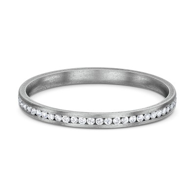 Rigel Thin White Titanium Ring
