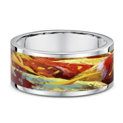 Rainbow Sand Dune Wide Ring